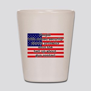 Armed security Shot Glass