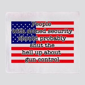 Armed Security Throw Blanket