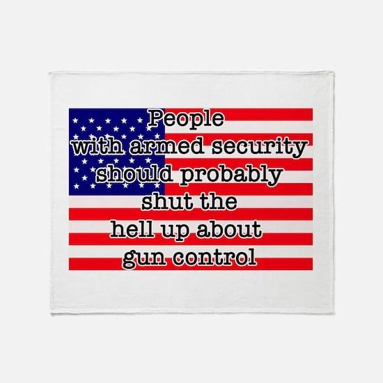 Armed Security Throw Blanket
