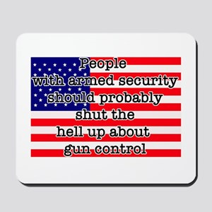 Armed security Mousepad