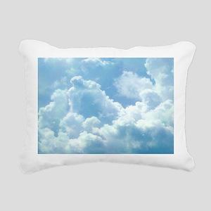 Puffy Clouds Rectangular Canvas Pillow