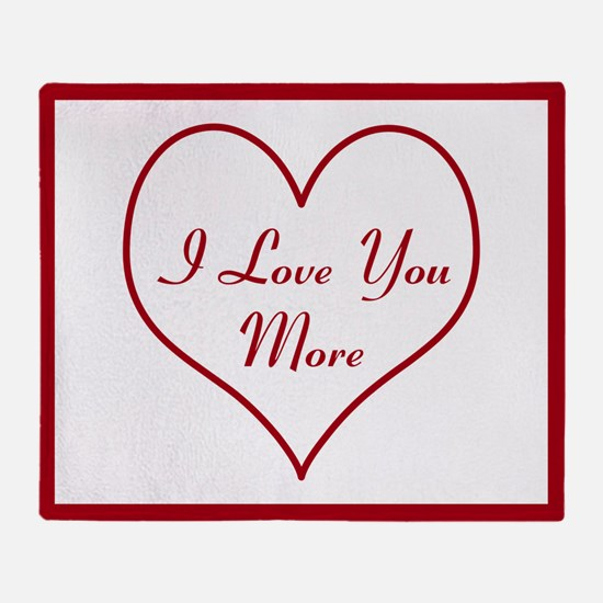 Reversible I Love You More Throw Blanket