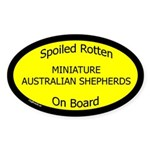 Spoiled Mini Australian Shepherds Oval Sticker