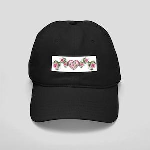 Painted Roses Black Cap