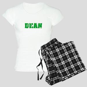 Dean Name Weathered Green Design Pajamas