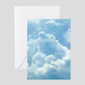 Puffy Clouds Greeting Cards