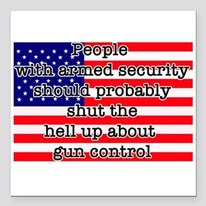 "Armed security Square Car Magnet 3"" x 3"""