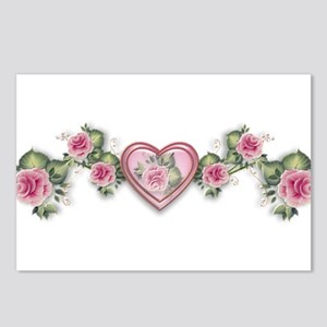 Painted Roses Postcards (Package of 8)