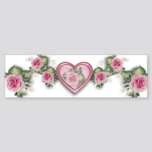 Painted Roses Bumper Sticker