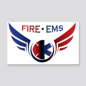 Flying Fire & EMS Rectangle Car Magnet