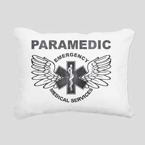Paramedic EMS SOL Wings Rectangular Canvas Pillow