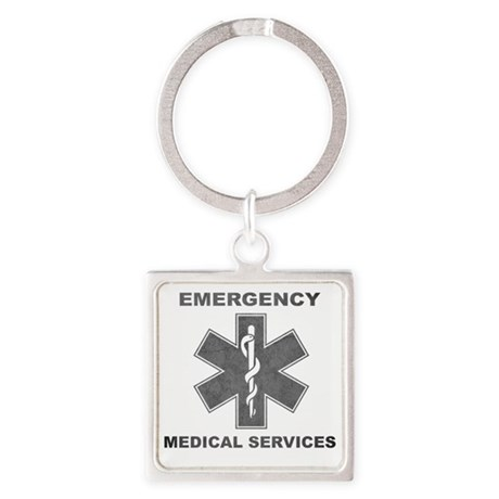 Emergency Medical Services Square Keychain