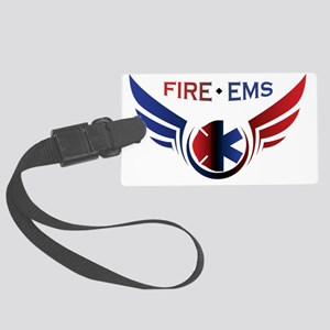 Flying Fire & Ems Large Luggage Tag