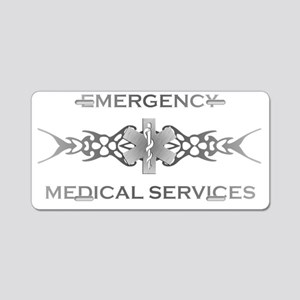 Silver Star of Life EMS Aluminum License Plate