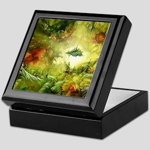 Fantasy Painting Landscape Mystical Keepsake Box