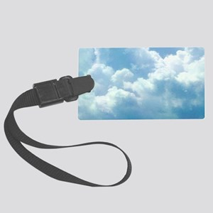 Puffy Clouds Large Luggage Tag