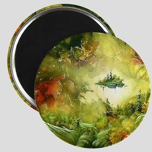 Fantasy Painting Landscape Mystical Magnets