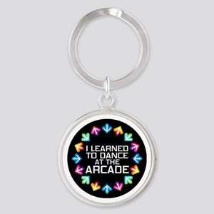 I Learned to Dance at the Arcade Round Keychain