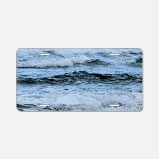 Waves Aluminum License Plate