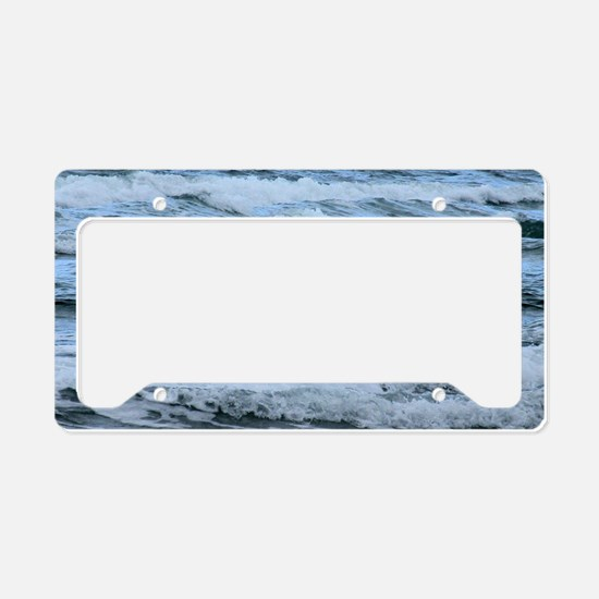 Waves License Plate Holder