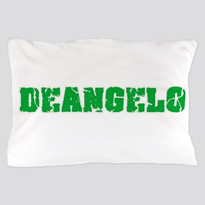 Deangelo Name Weathered Green Design Pillow Case