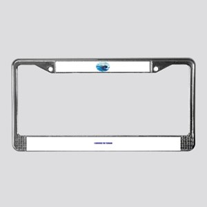 SURVIVED THE TSUNAMI License Plate Frame