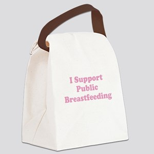 I Support Public Breastfeeding - Pink Canvas Lunch