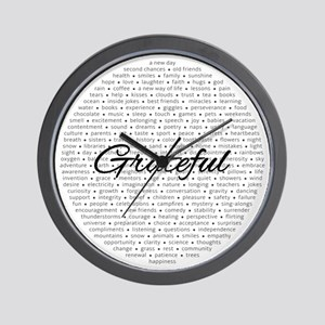 Grateful For... Wall Clock