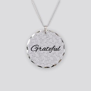 Grateful For... Necklace Circle Charm