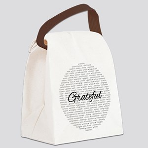 Grateful for... Canvas Lunch Bag