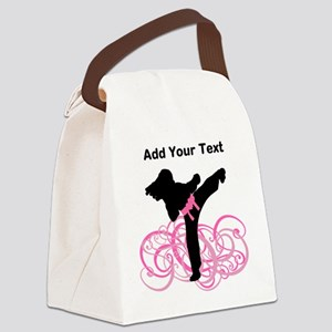 Pink Kicks Canvas Lunch Bag