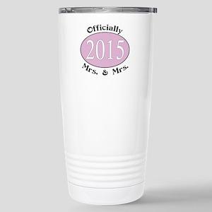 Officially Mrs. & Mrs. Stainless Steel Travel Mug