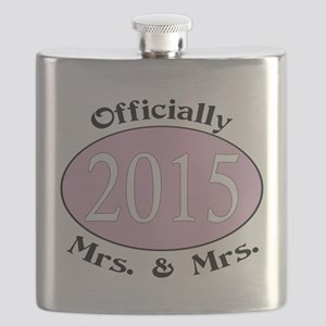 Officially Mrs. & Mrs. 2015 Pink Flask