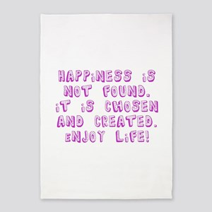 Happiness Journey 5'x7'Area Rug