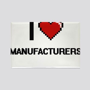 I Love Manufacturers Magnets