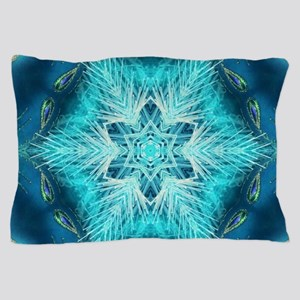Christmas teal snowflakes turquoise Pillow Case