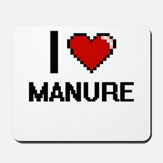 I Love Manure Mousepad