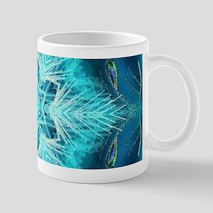 Christmas teal snowflakes turquoise Mugs