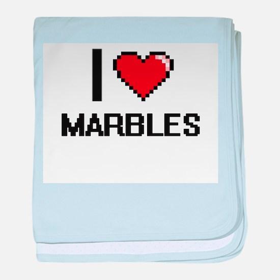 I Love Marbles baby blanket