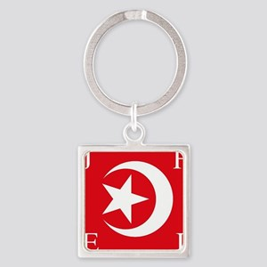 Flag Square Keychain