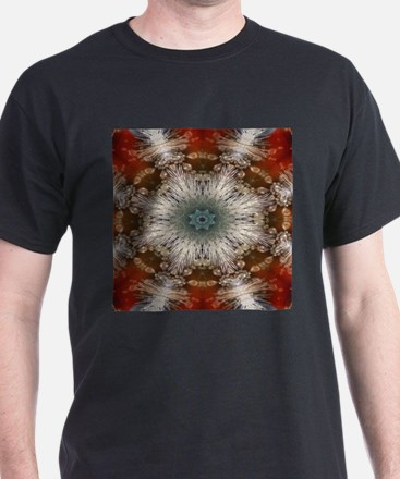 Christmas red silver snowflakes T-Shirt
