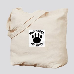 Professional Pet Sitter Paw Print Tote Bag