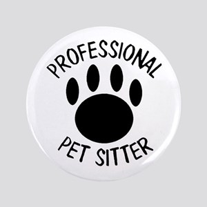 Professional Pet Sitter Paw Print Button
