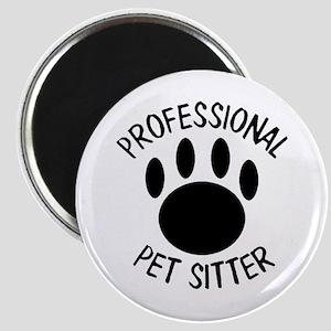 Professional Pet Sitter Paw Print Magnet