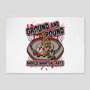 Pound and Ground MMA 5'x7'Area Rug