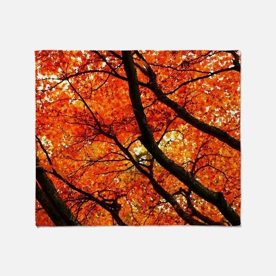 Autumn oak Throw Blanket