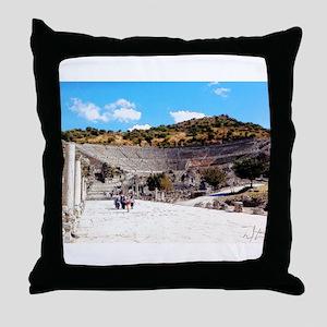 A Stadium View Throw Pillow