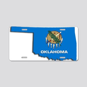 OKLAHOMA STATE FLAG Aluminum License Plate