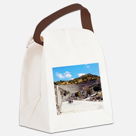 A Stadium View Canvas Lunch Bag