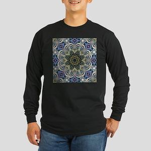 romantic floral purple mandala Long Sleeve T-Shirt